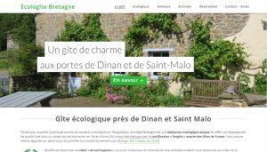 Création site vitrine gîte en Bretagne